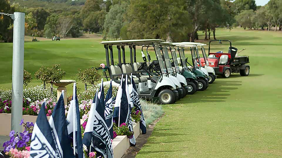 sanfl-flags-with-golf-carts